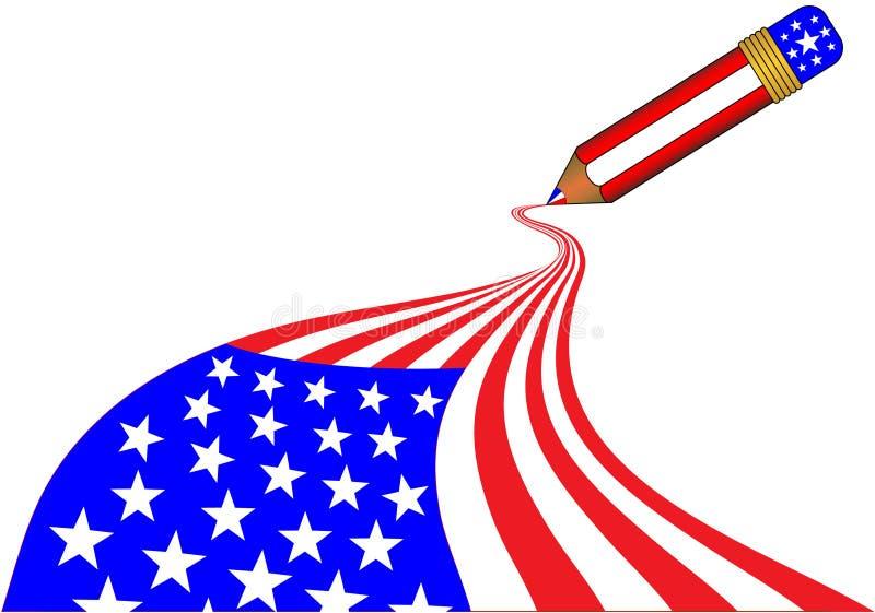 волшебный карандаш США иллюстрация штока