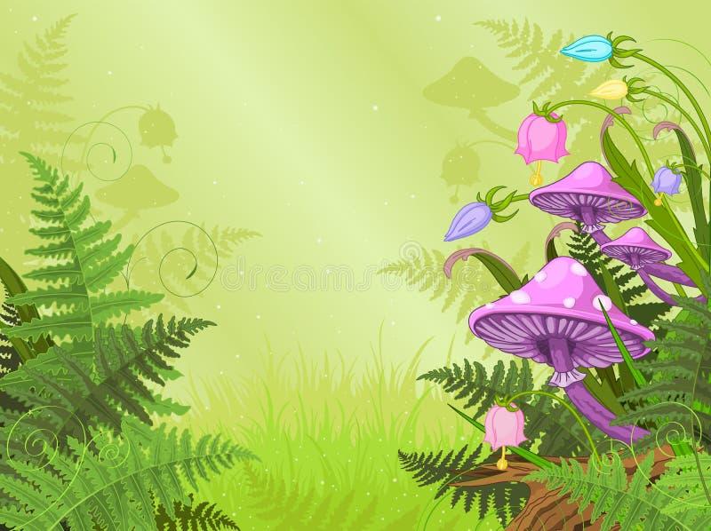 Волшебный ландшафт иллюстрация штока