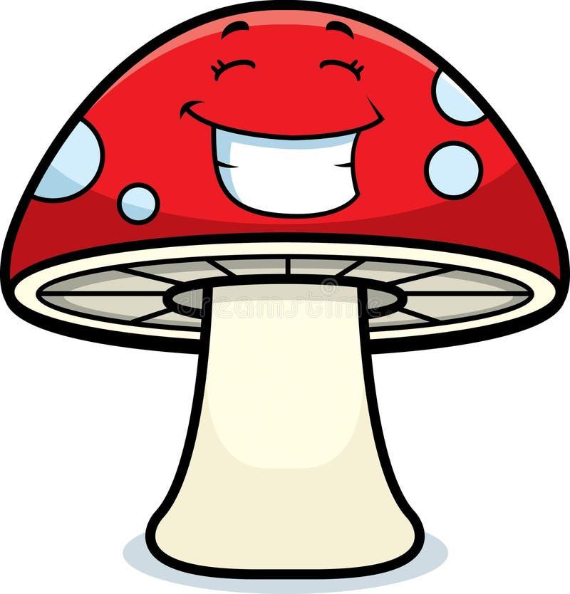 волшебный усмехаться гриба иллюстрация вектора