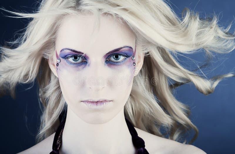 волшебство глаз составляет стоковое изображение