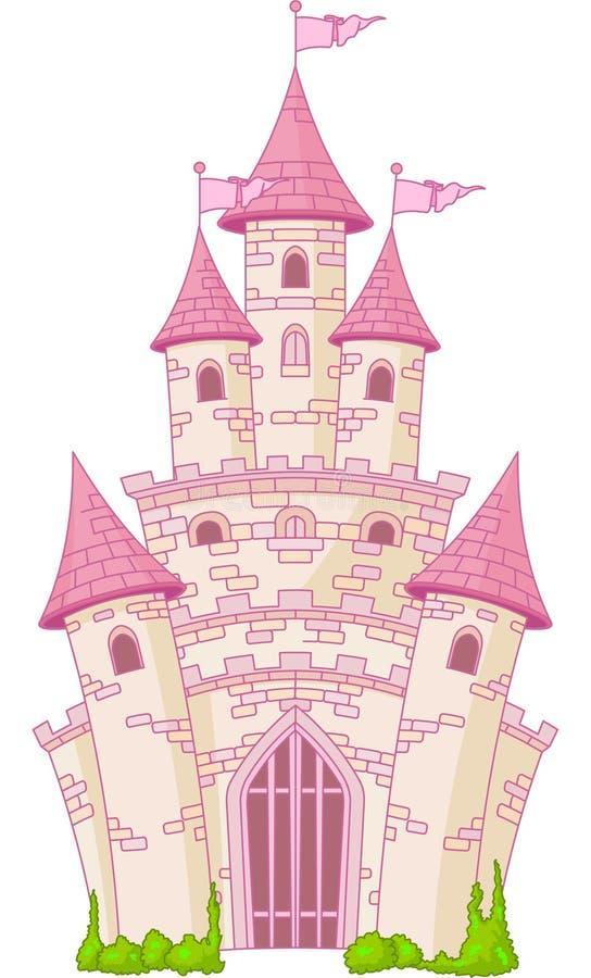 волшебство замока иллюстрация вектора