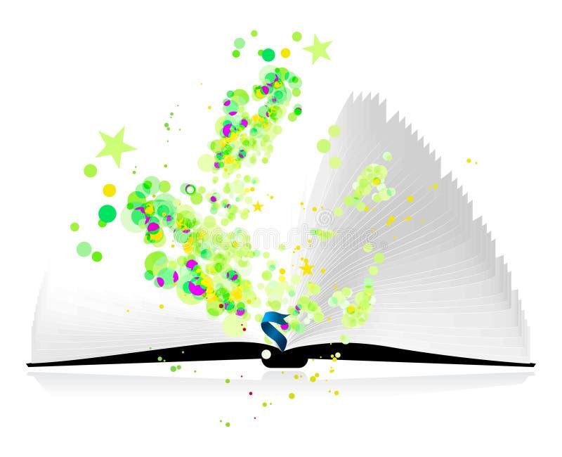 волшебство книги открытое иллюстрация вектора