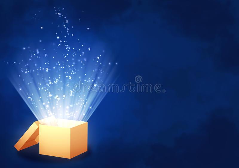 волшебство коробки иллюстрация штока