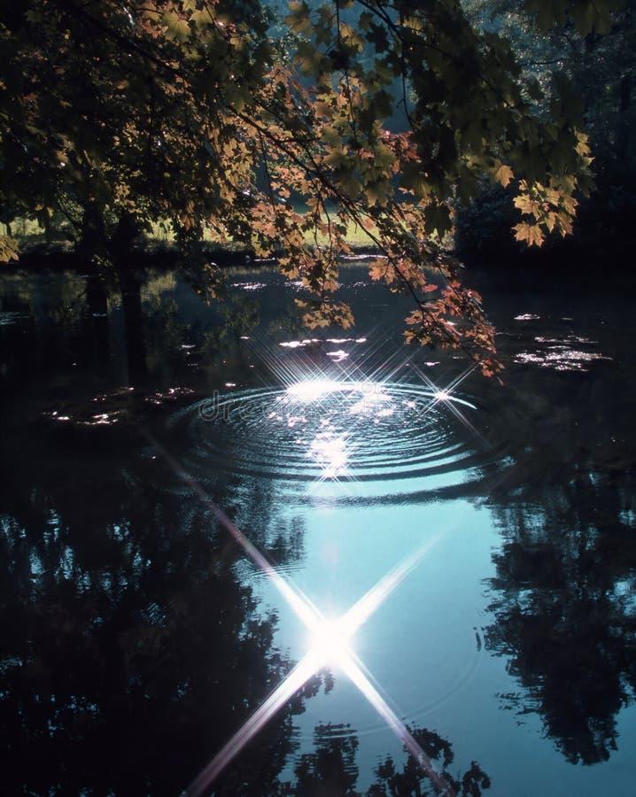 волшебство озера стоковая фотография rf