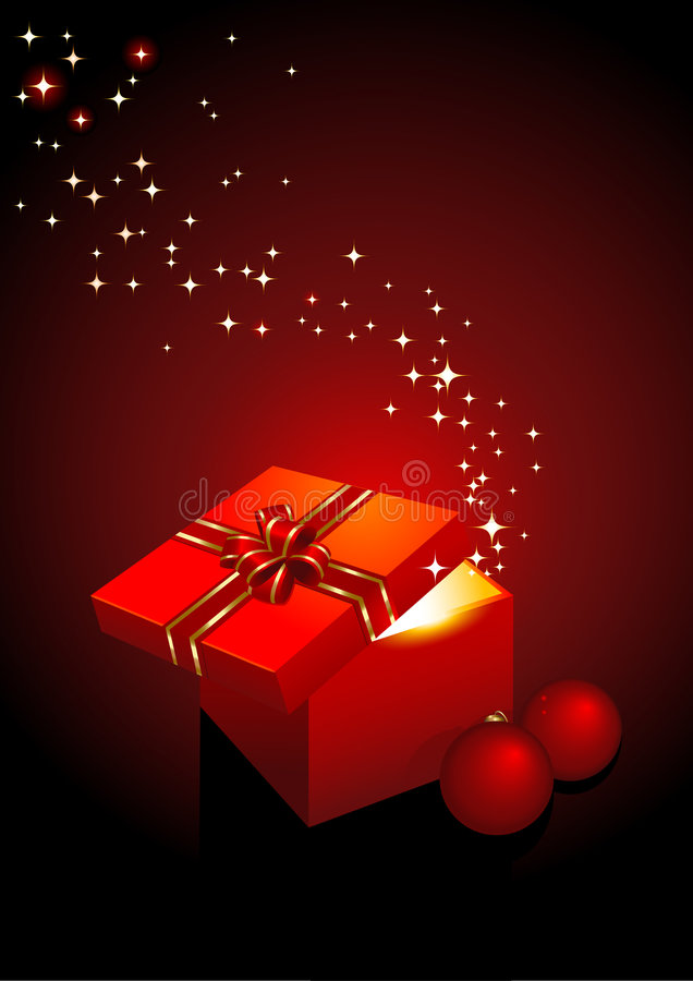 волшебство подарка коробки бесплатная иллюстрация
