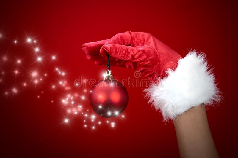 волшебство рождества шарика стоковая фотография rf