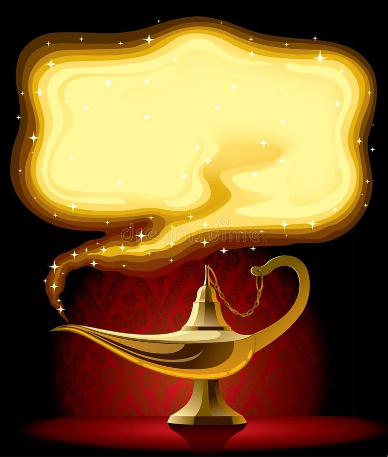 волшебство s светильника aladdin иллюстрация вектора