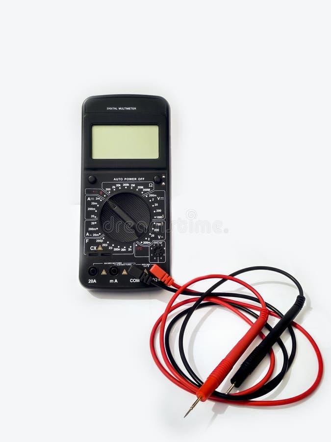 Вольтамперомметр цифровой для домашнего исследования стоковое фото rf