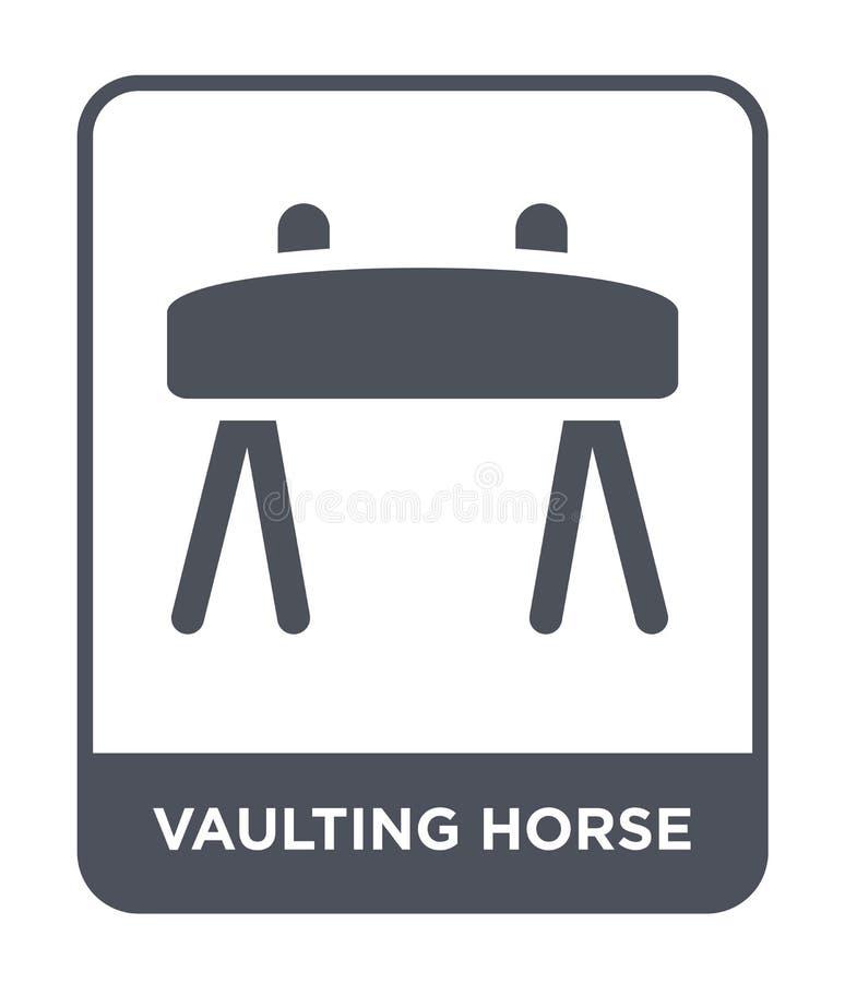 вольтижируя значок лошади в ультрамодном стиле дизайна вольтижируя значок лошади изолированный на белой предпосылке вольтижируя з иллюстрация вектора