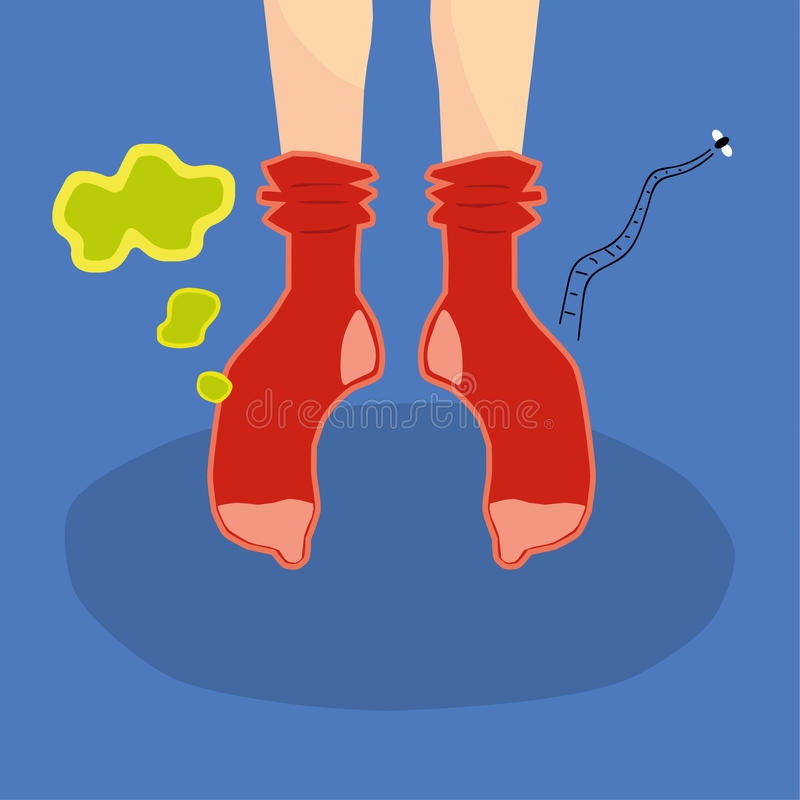Вонючие носки иллюстрация штока