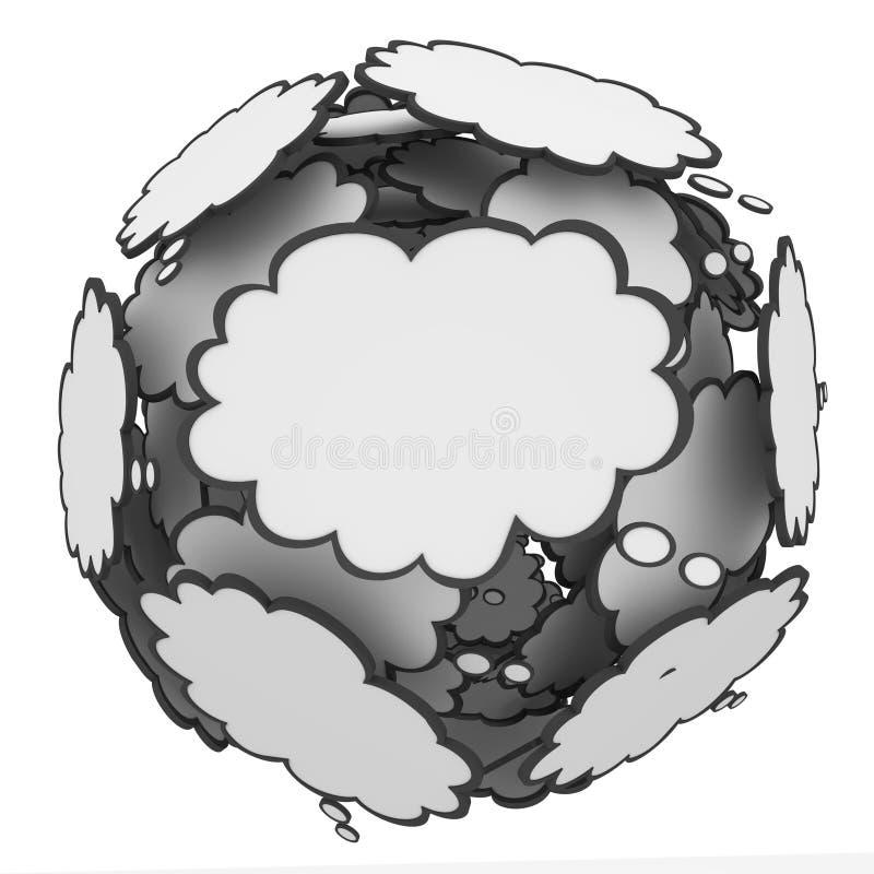 Воображение творческих способностей идей сферы облака мысли иллюстрация штока