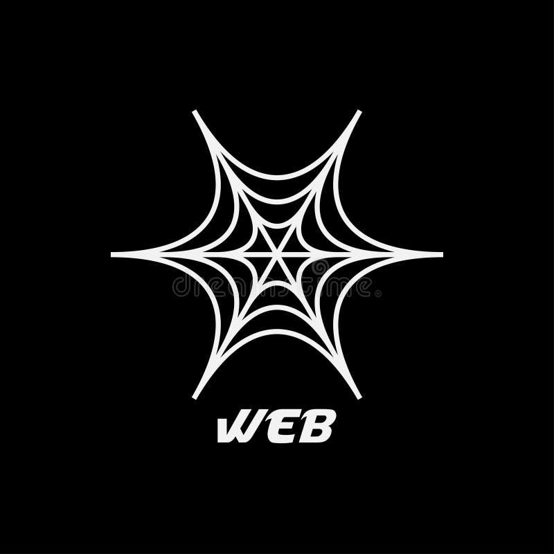 Воодушевленность дизайна логотипа паука сети иллюстрация штока