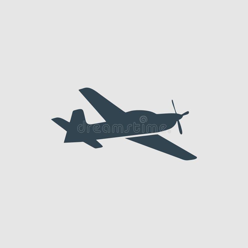 Воодушевленность логотипа вензеля аэроплана бесплатная иллюстрация