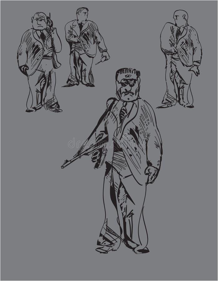 вооруженные люди бесплатная иллюстрация