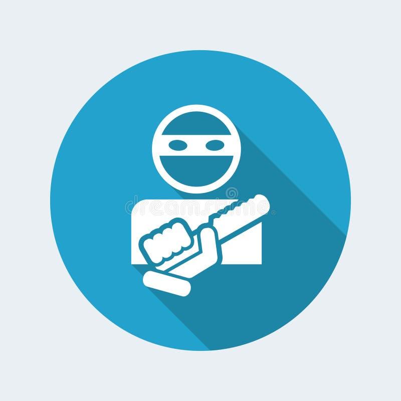 Вооруженный значок бандита бесплатная иллюстрация