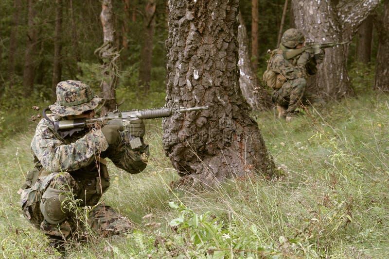 вооруженный морской пехотинец s u стоковые изображения