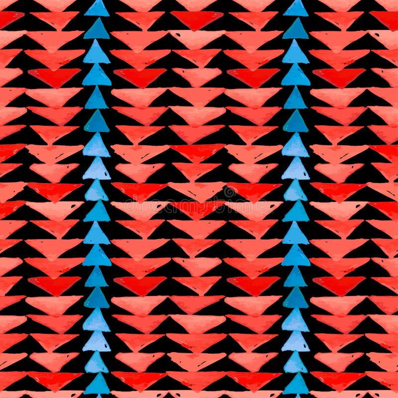 Воодушевленности ткани Навахо картина ацтекской безшовная Родное americ иллюстрация вектора