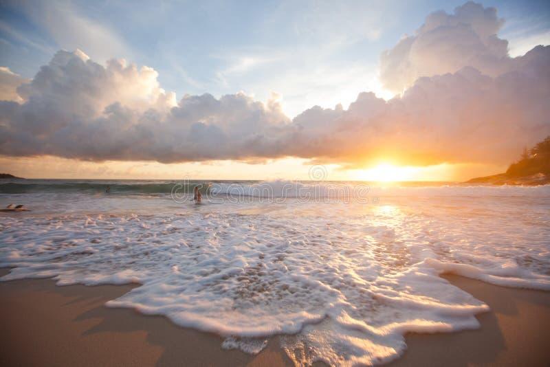 Воодушевленность захода солнца стоковые фотографии rf