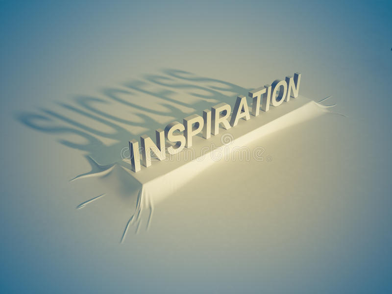 Воодушевленность = успех иллюстрация вектора