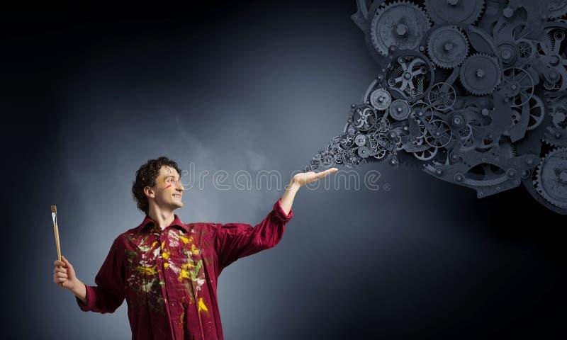 Download Воодушевленность художника Гая ждать Мультимедиа Стоковое Фото - изображение насчитывающей поиск, украшение: 81808634