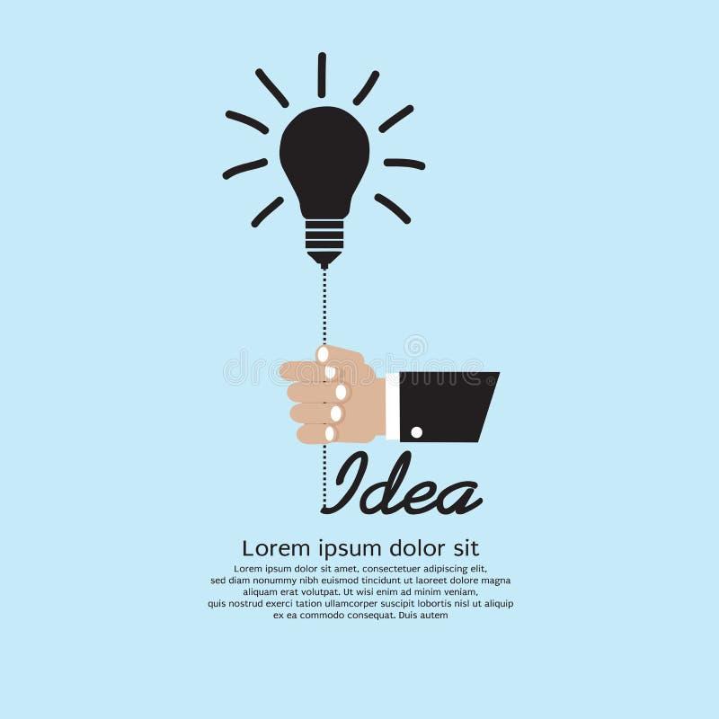 Воодушевленность электрической лампочки. иллюстрация вектора