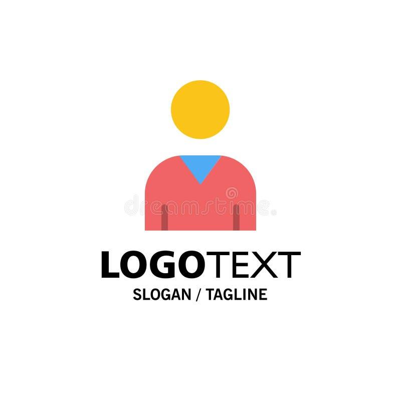 Воплощение, интерфейс, шаблон логотипа дела потребителя r иллюстрация штока