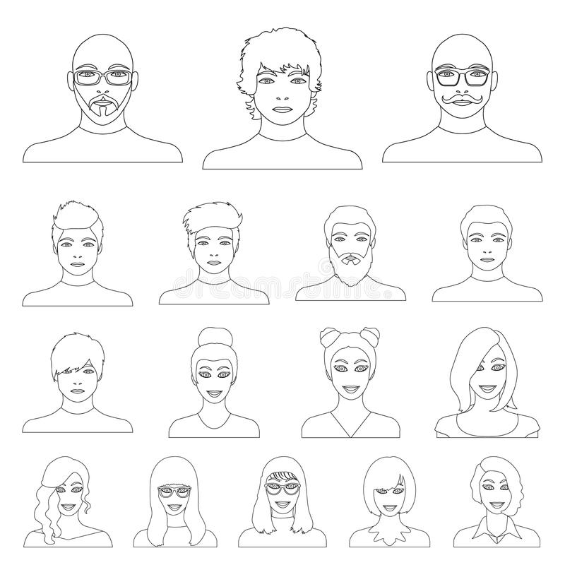 Воплощение и сторона конспектируют значки в собрании комплекта для дизайна Иллюстрация сети запаса символа вектора возникновения  иллюстрация вектора