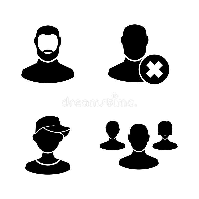 Воплощение людей Простые родственные значки вектора иллюстрация штока