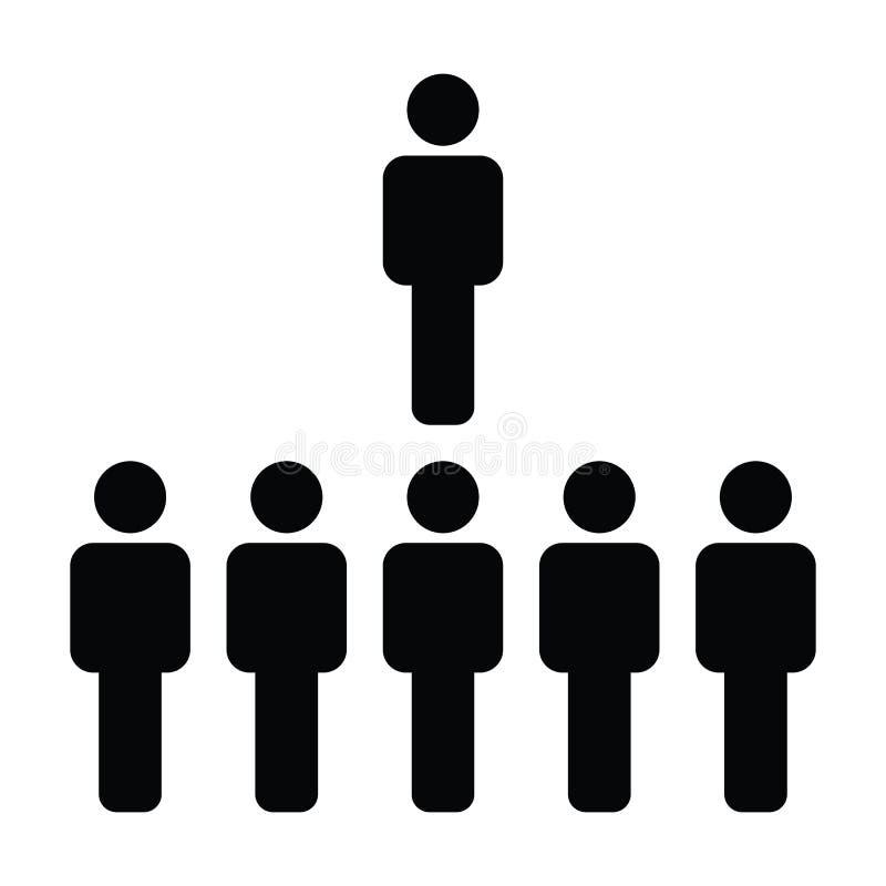Воплощение символа группы людей социального вектора значка сети мужское для руководящей группы руководства бизнесом в плоской пик бесплатная иллюстрация