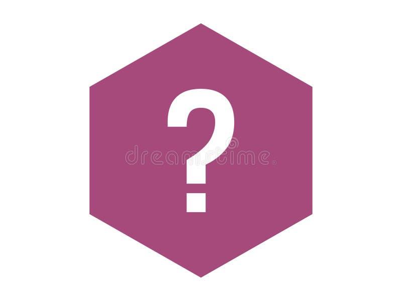 Вопросительный знак на пурпурной предпосылке иллюстрация вектора