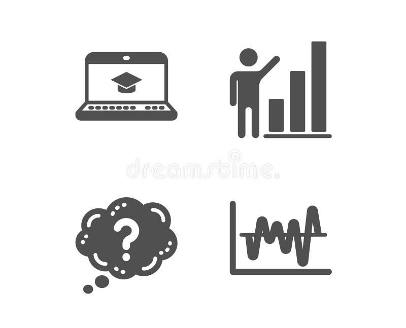 Вопросительный знак, образование вебсайта и диаграмма диаграммы значки r r иллюстрация штока