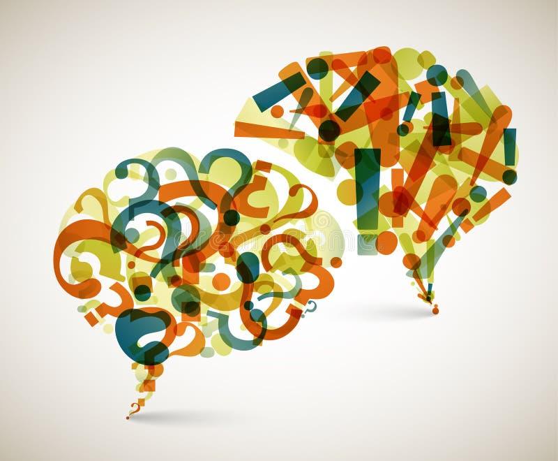 Вопросы и ответы - абстрактная иллюстрация иллюстрация штока
