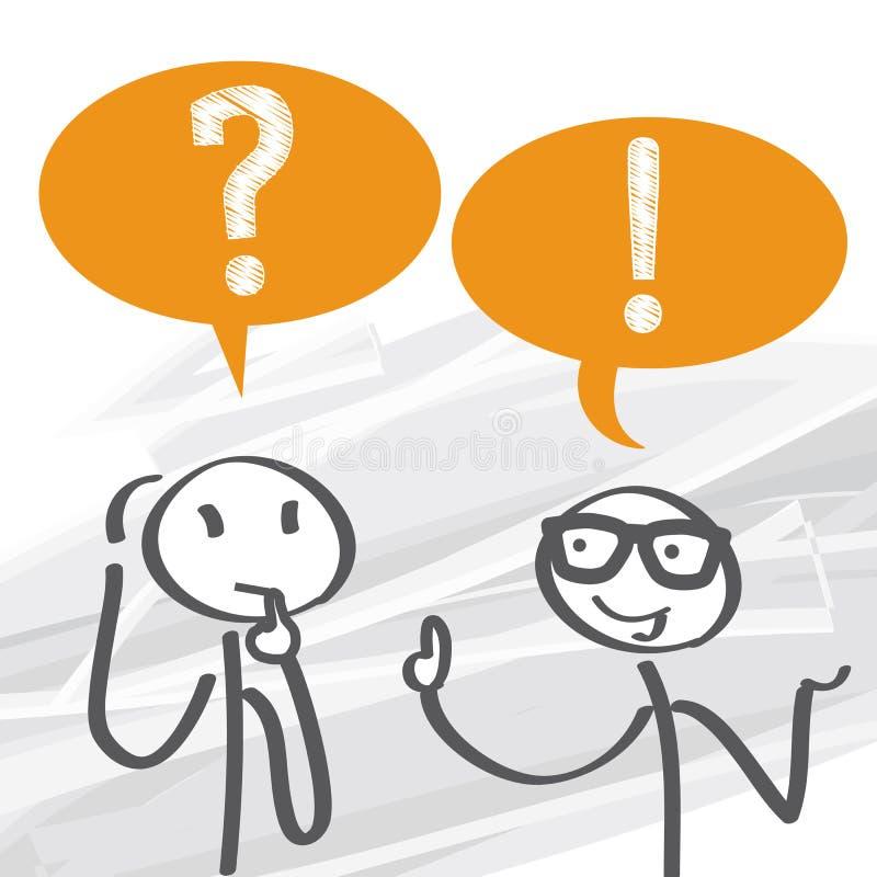 вопросы и ответы - совет бесплатная иллюстрация