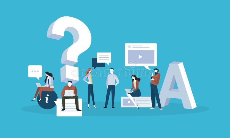 вопросы и ответы бесплатная иллюстрация