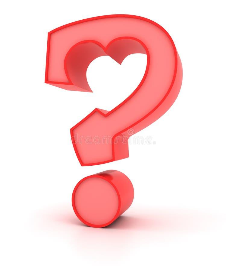 Вопросы о влюбленности иллюстрация вектора