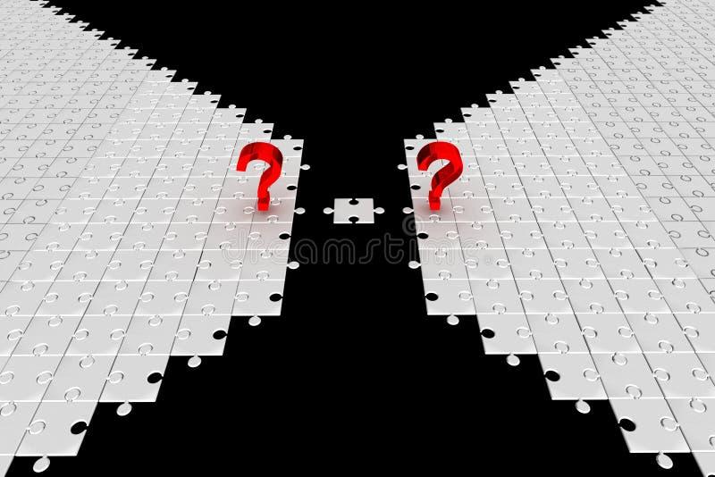 вопросы о головоломки идеи стоковое изображение rf