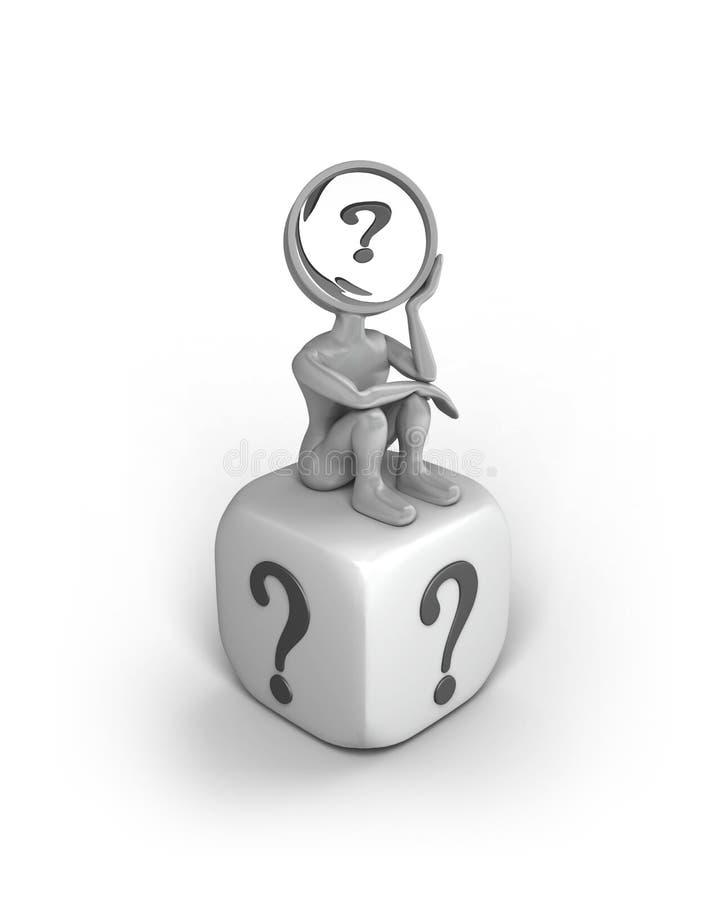 вопросы о человека иллюстрация вектора