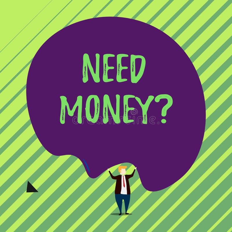 Вопрос о денег потребности текста почерка Смысл концепции спрашивая кто-то если ему, то наличные деньги или bouns получают займу  бесплатная иллюстрация