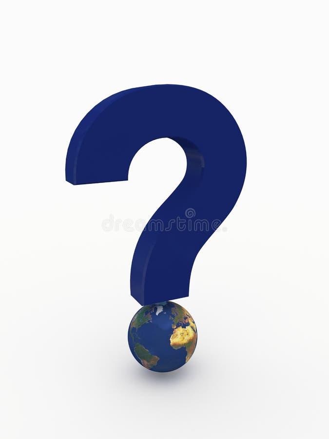 вопрос о метки глобуса иллюстрация вектора