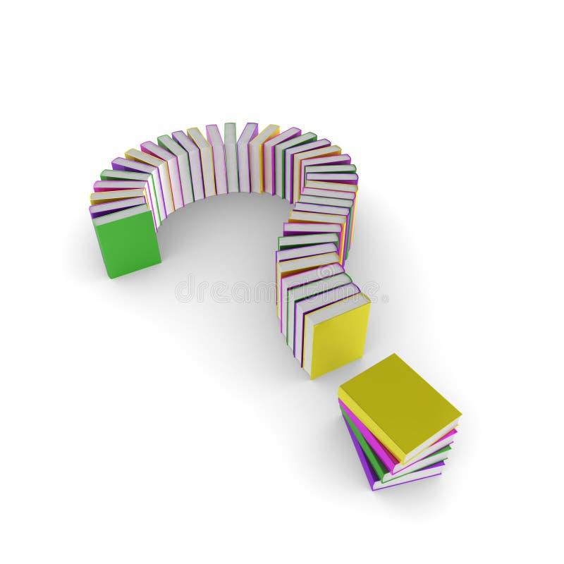 вопрос о метки книг иллюстрация штока