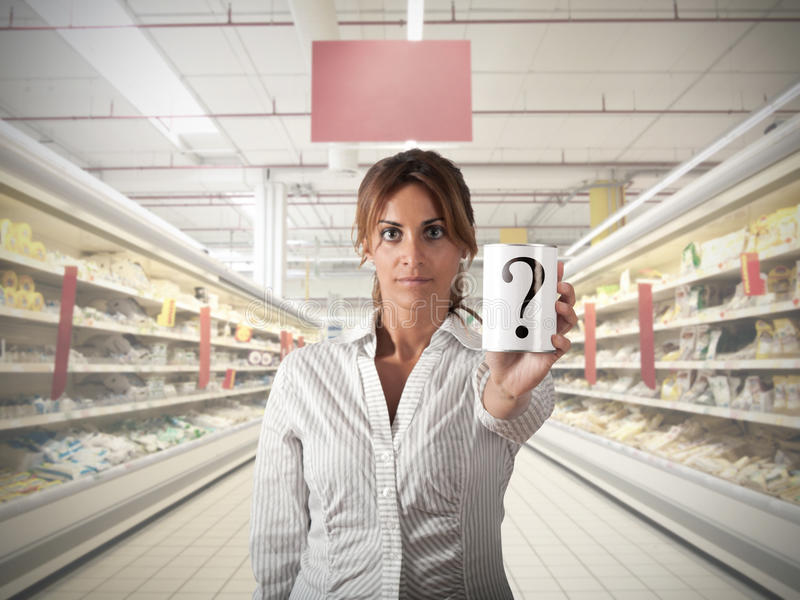 Вопрос о супермаркета стоковые фотографии rf