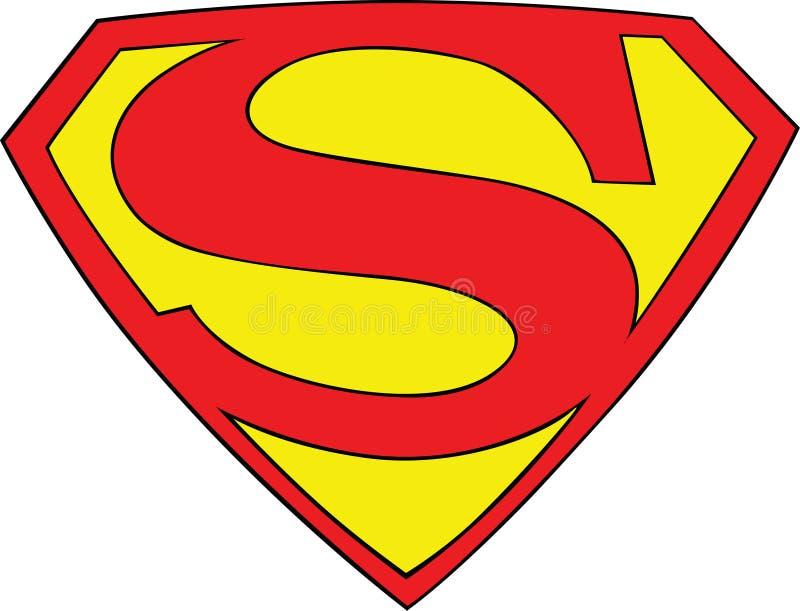 Вопрос 1944 супермена логотипа символа супермена s 26 иллюстрация вектора