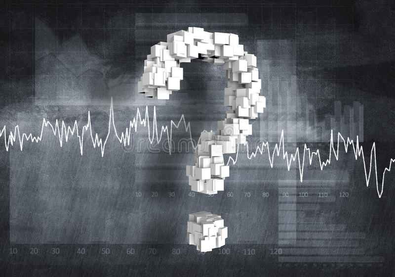 Вопрос финансового роста, перевода 3d иллюстрация вектора