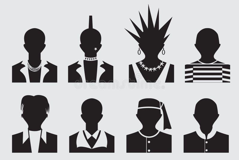 Воплощение битника, панка, emo, rockstar и пленника бесплатная иллюстрация