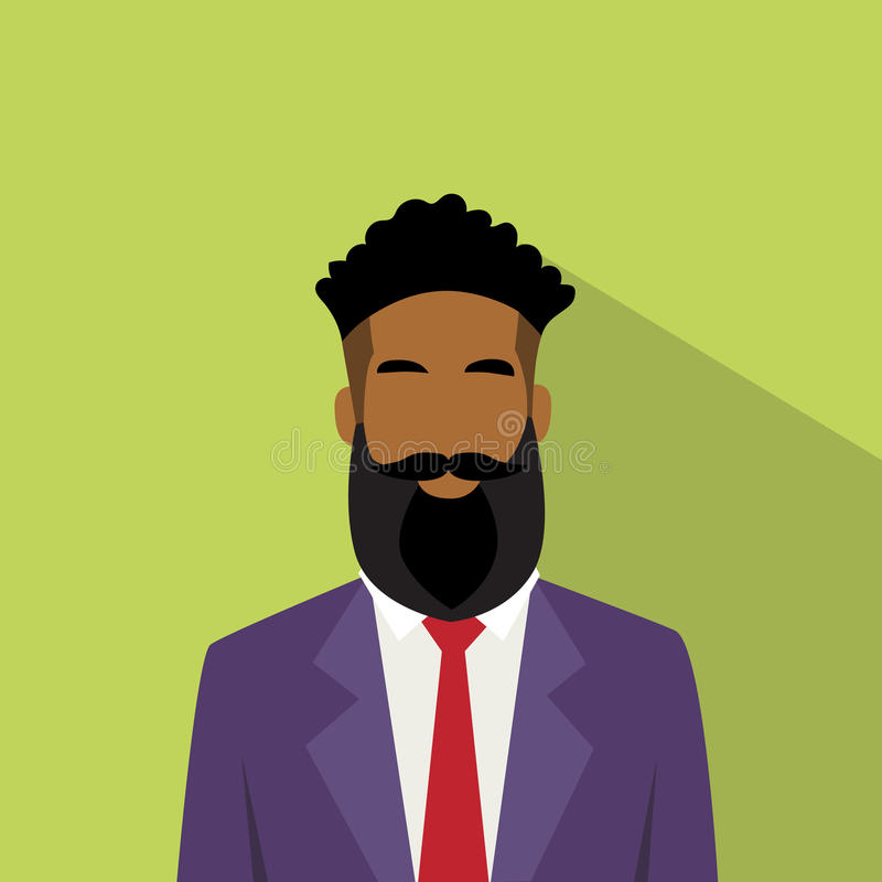 Воплощение значка профиля бизнесмена Афро-американское этническое мужское иллюстрация штока