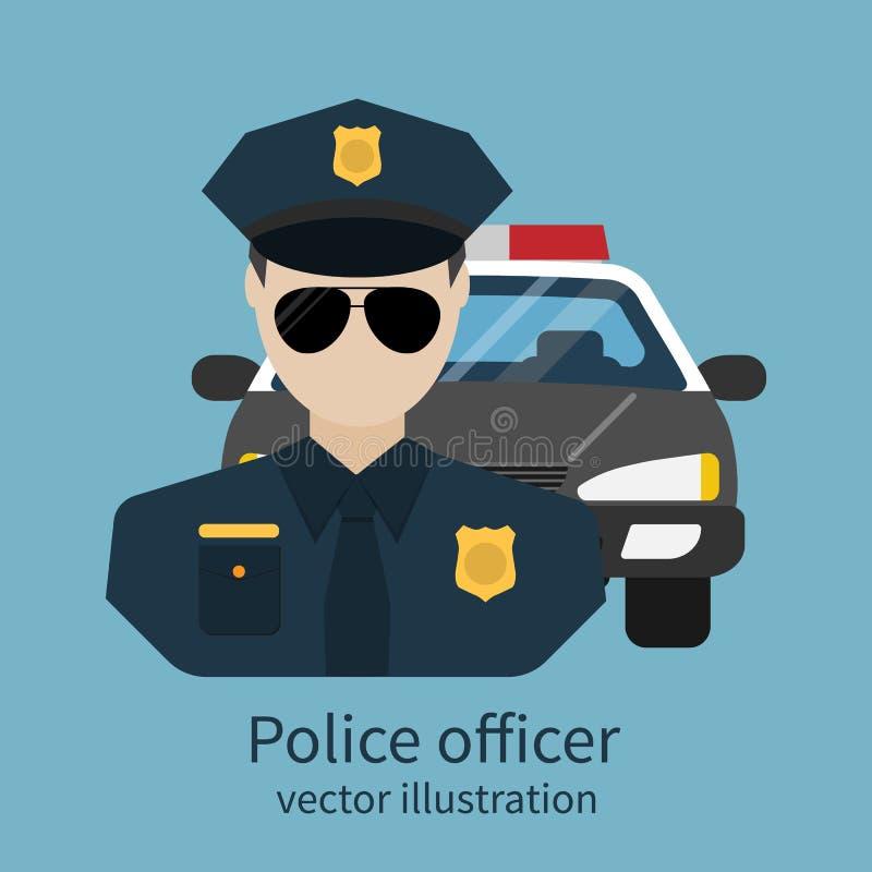 Воплощение полицейского иллюстрация вектора
