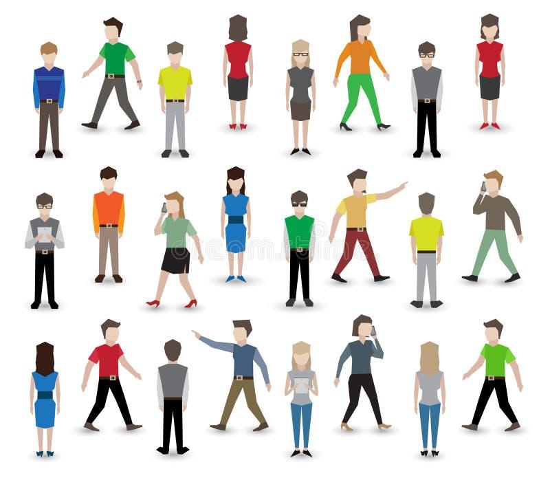 Воплощения пиксела людей бесплатная иллюстрация