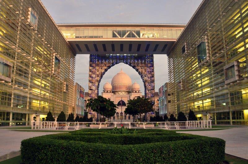 дворец putrajaya правосудия стоковое изображение