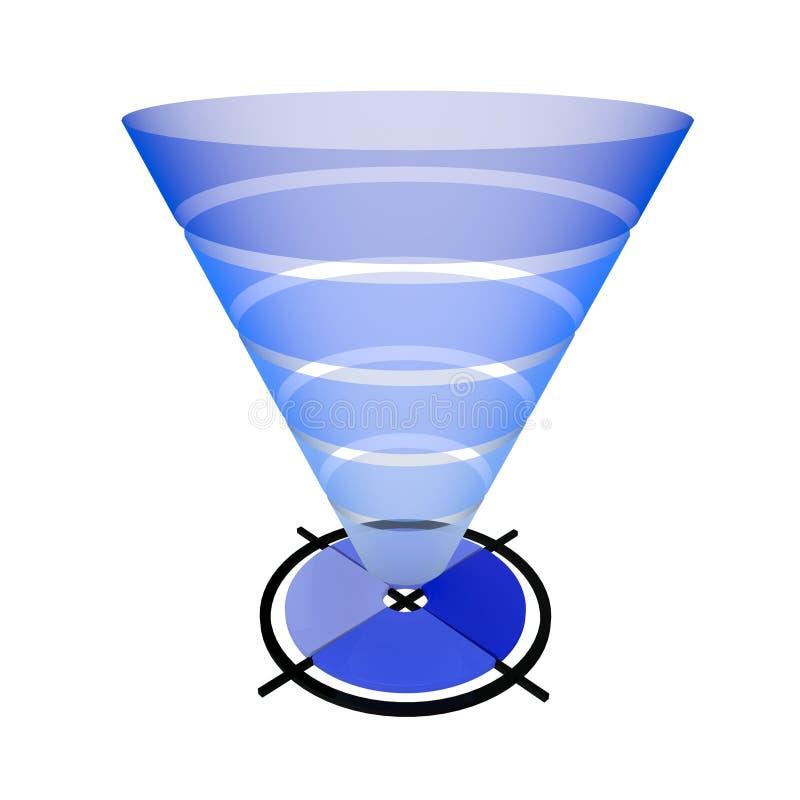 Воронка маркетинговой стратегии иллюстрация вектора