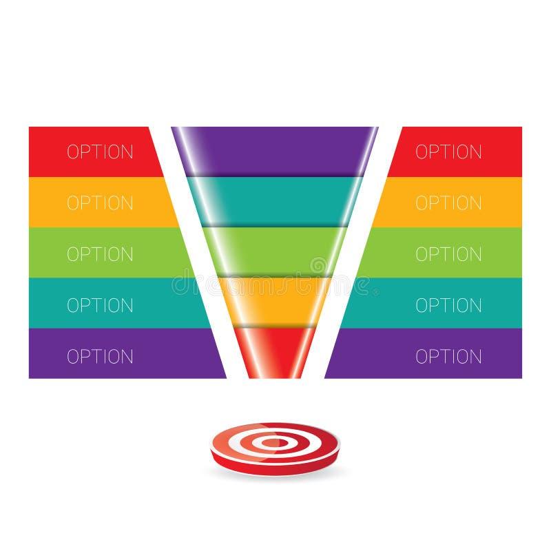 Воронка продаж вектора иллюстрация вектора